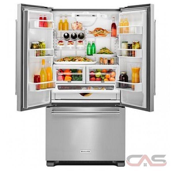 kitchenaid krfc302epa french door refrigerator 36 width freezer