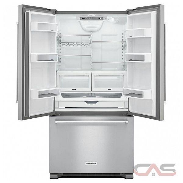 kitchenaid krfc302ess french door refrigerator 36 width freezer
