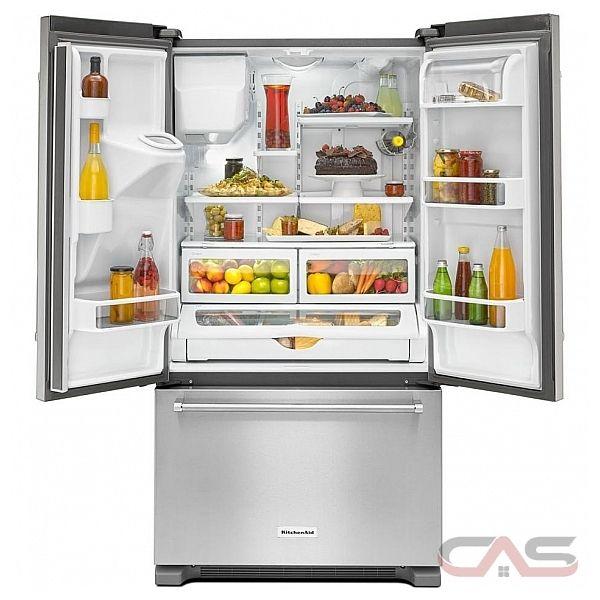 kitchenaid krfc400ess french door refrigerator 36 width thru door
