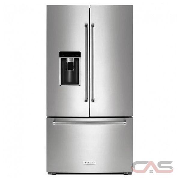 Kitchenaid Krfc704fps French Door Refrigerator 36 Quot Width