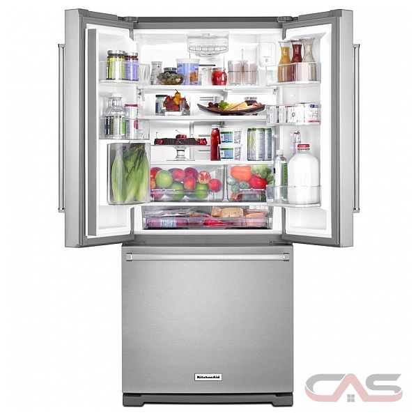kitchenaid krff300ewh french door refrigerator 30 width freezer