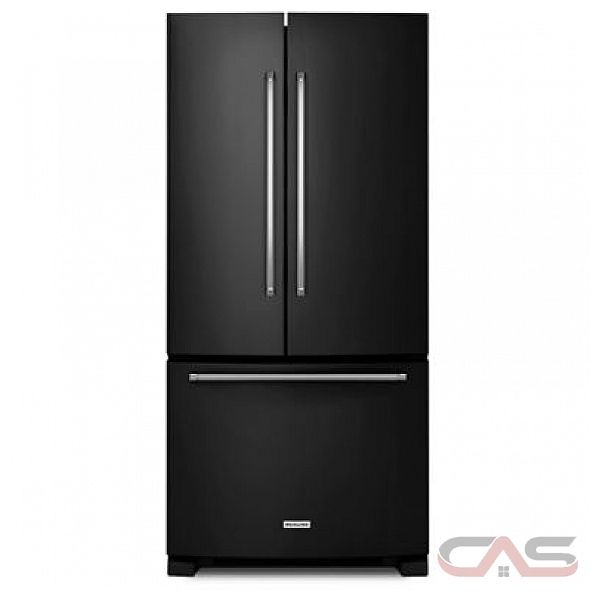 kitchenaid krff302ebl french door refrigerator 33 width freezer