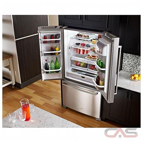 kitchenaid krff305ewh refrigerator canada - best price
