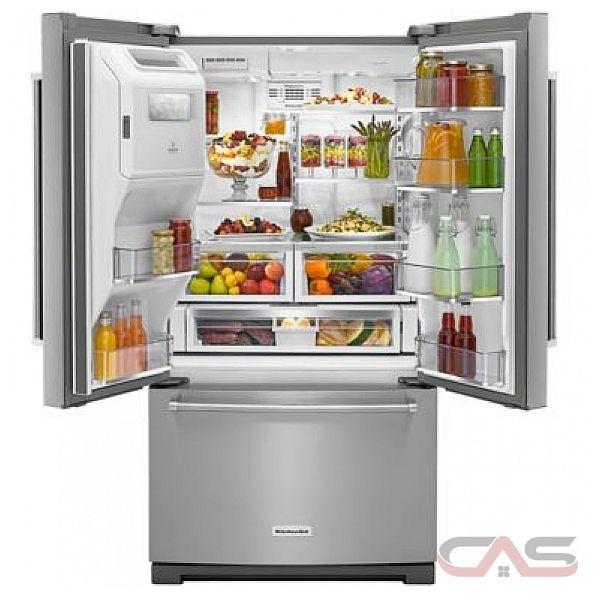 kitchenaid krff507ess french door refrigerator 36 width thru door
