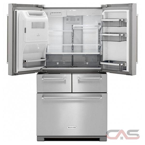kitchenaid krmf606ess french door refrigerator 36 width thru door