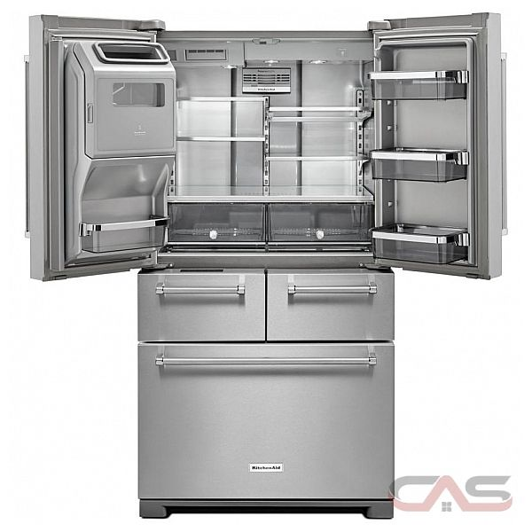 Kitchenaid Black Stainless Steel French Door Refrigerator: KitchenAid KRMF706EBS Refrigerator Canada