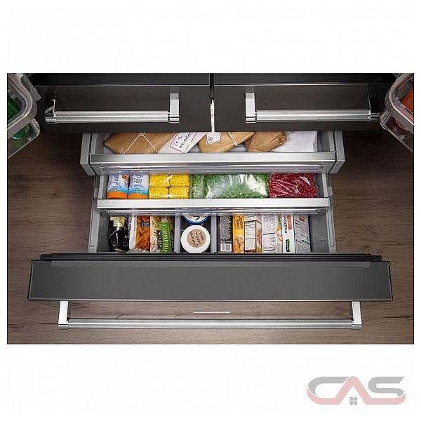 Kitchenaid krmf706ess french door refrigerator 36 quot width thru door