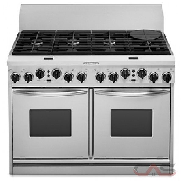 kitchenaid kdrp487mss 48 in width 8 burners porcelain on steel