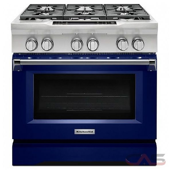 KitchenAid KDRS467VBU Range Dual Fuel Range 36 inch