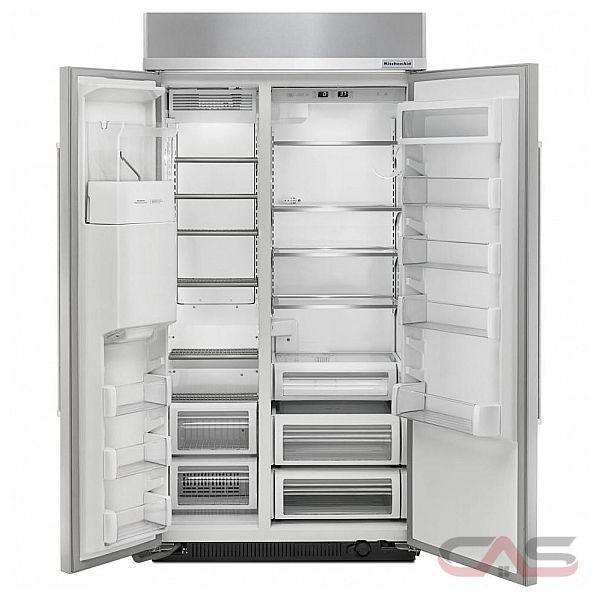 kitchenaid kbsd602ess side by side refrigerator 42 width thru door