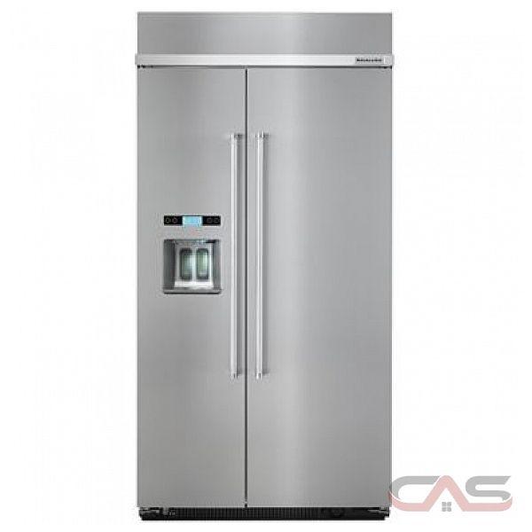 r frig rateur c te c te kitchenaid kbsd602ess frigo 42 groupe de largeur distributeur dans. Black Bedroom Furniture Sets. Home Design Ideas