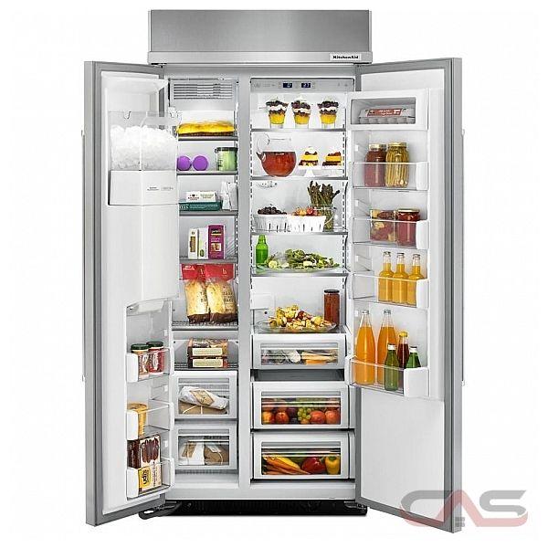 kitchenaid kbsd606ess side by side refrigerator 36 width thru door