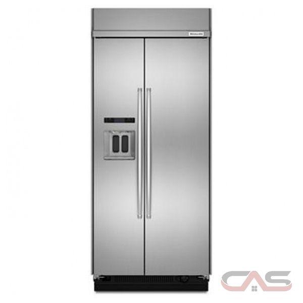 kitchenaid kbsd606ess side by side refrigerator 36 width