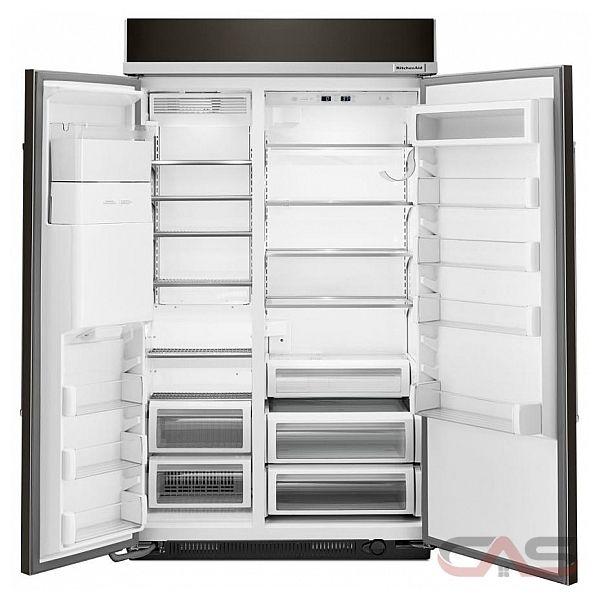 kitchenaid kbsd608ebs side by side refrigerator 48 width thru door