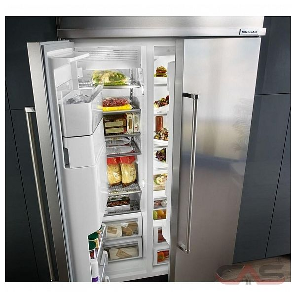 kitchenaid kbsd608ess side by side refrigerator 48 width thru door
