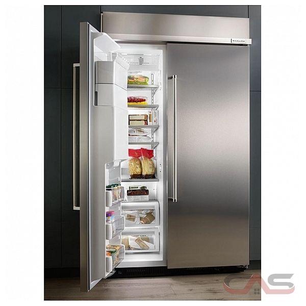 kitchenaid kbsd618ess side by side refrigerator 48 width thru door