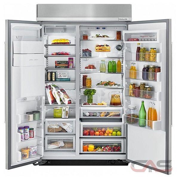 kitchenaid kbsd618ess side by side refrigerator 48 width