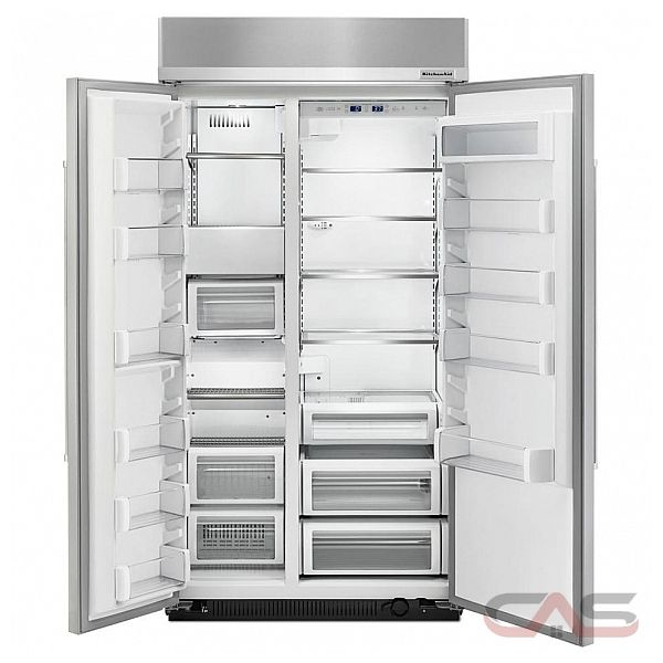 kitchenaid kbsn602ess side by side refrigerator 42 width freezer