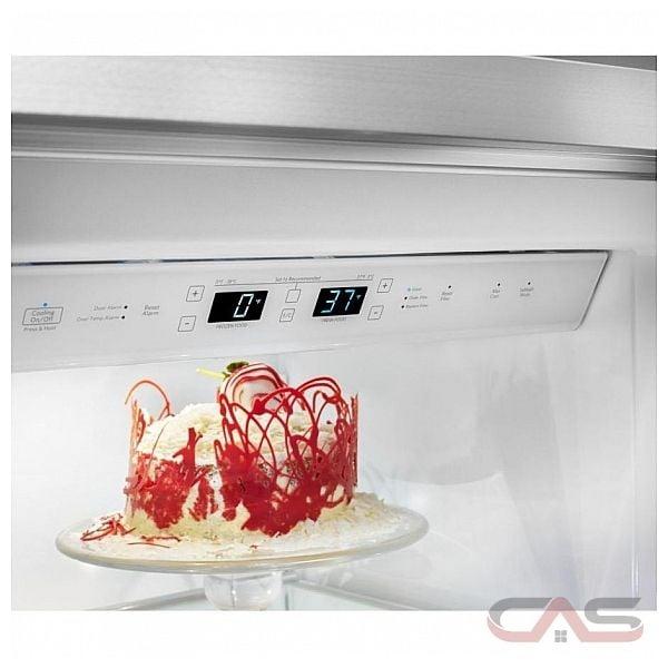 kitchenaid kbsn602ess side by side refrigerator 42 width