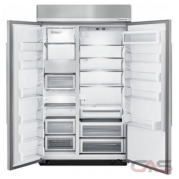 kitchenaid kbsn608epa side by side refrigerator 48 width freezer
