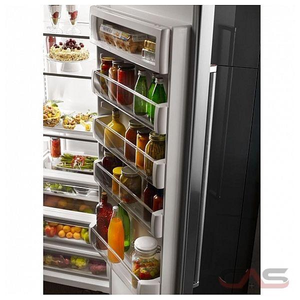 kitchenaid kbsn608ess side by side refrigerator 48 width freezer