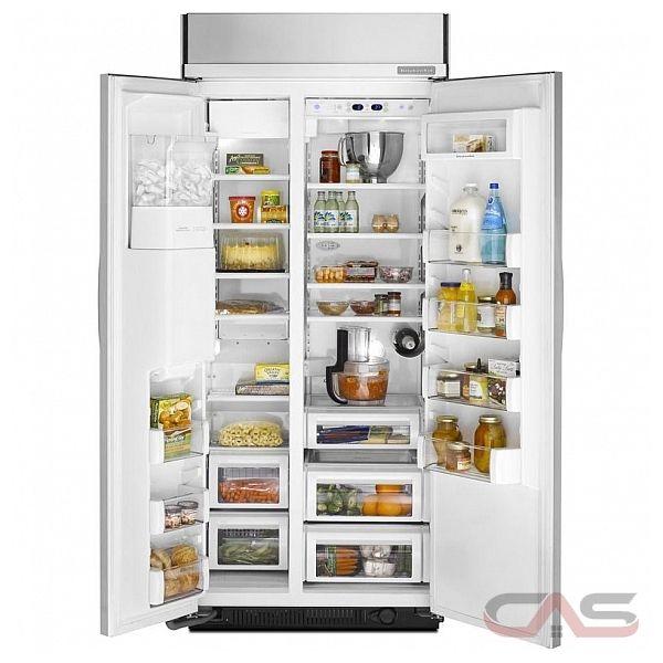 kitchenaid kssc36qts side by side refrigerator 36 width