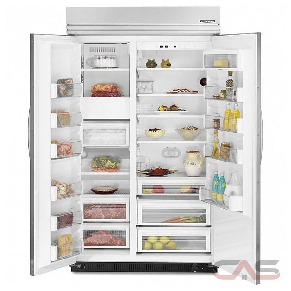 kitchen aid ksso48ftx built in side by side refrigerator 48in 29 8