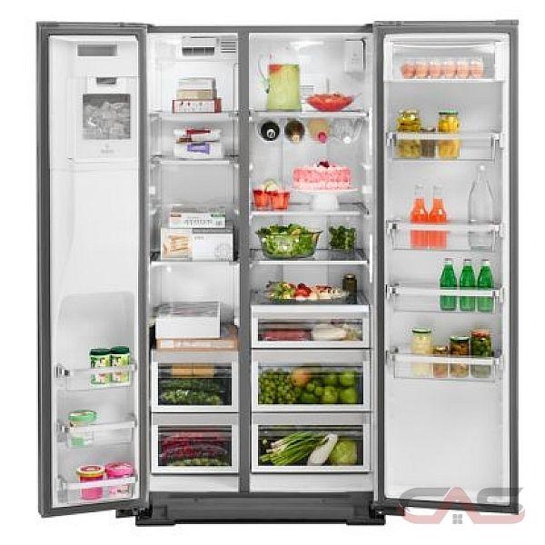 kitchenaid krsc500ess side by side refrigerator 36 width thru door