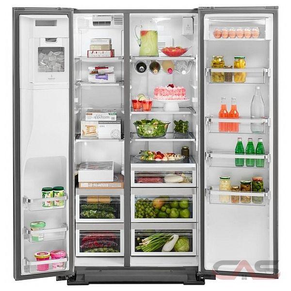 kitchenaid krsc503ess side by side refrigerator 36 width