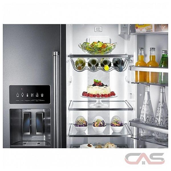 kitchenaid krsc503ess side by side refrigerator 36 width thru door