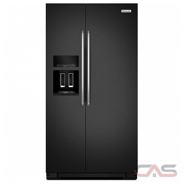 kitchenaid krsf505ebl side by side refrigerator 36 width