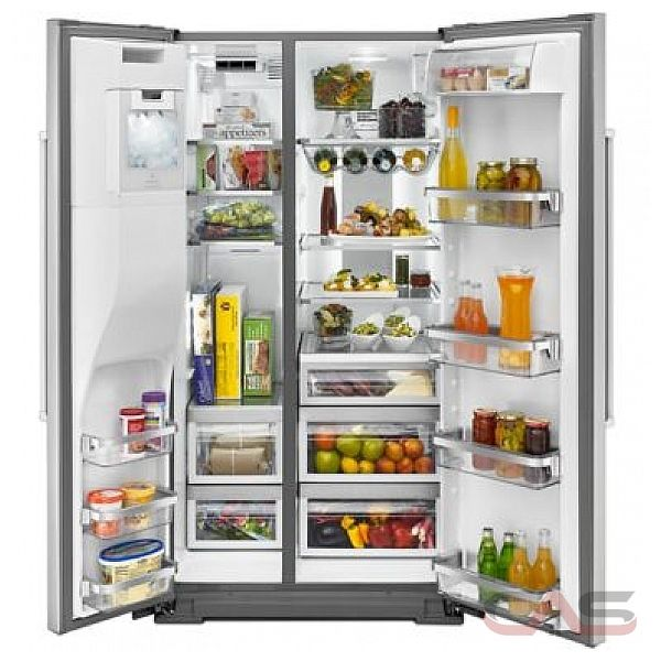 kitchenaid krsf505ess side by side refrigerator 36 width thru door