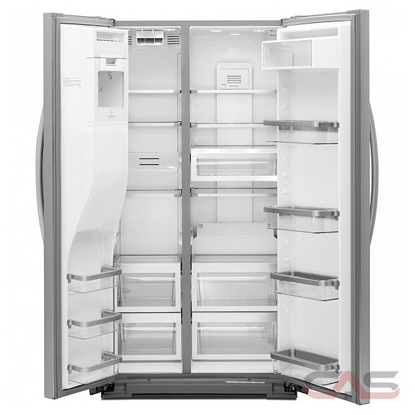 kitchen aid ksc23c8eyy counter depth side by side refrigerator 36in