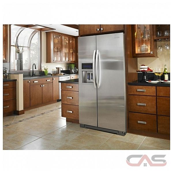 kitchen aid ksc24c8eyw counter depth side by side
