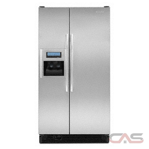 kitchen aid ksck23fvss counter depth side by side refrigerator 36in