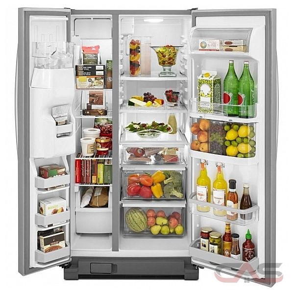 kitchen aid ksf22c4cyy side by side refrigerator 33in 21