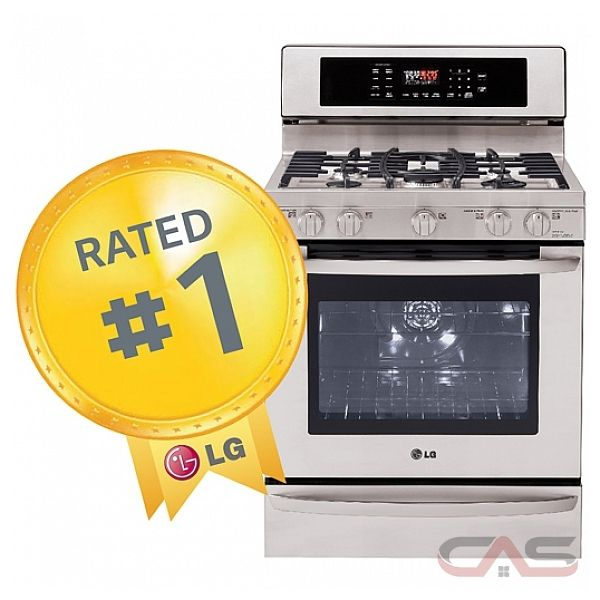 LG LRG3097ST Freestanding Gas Range, 30 in, 5,4 Cu.Ft, with 5 Sealed Burners, 19,000 BTU UltraHeat Burner, Continuous Grates, EvenJet Convection Oven, Self-Clean and Warming Drawer