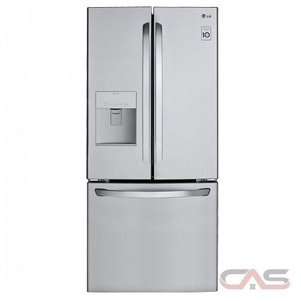 lg lfd22786st french door width freezer located ice dispenser