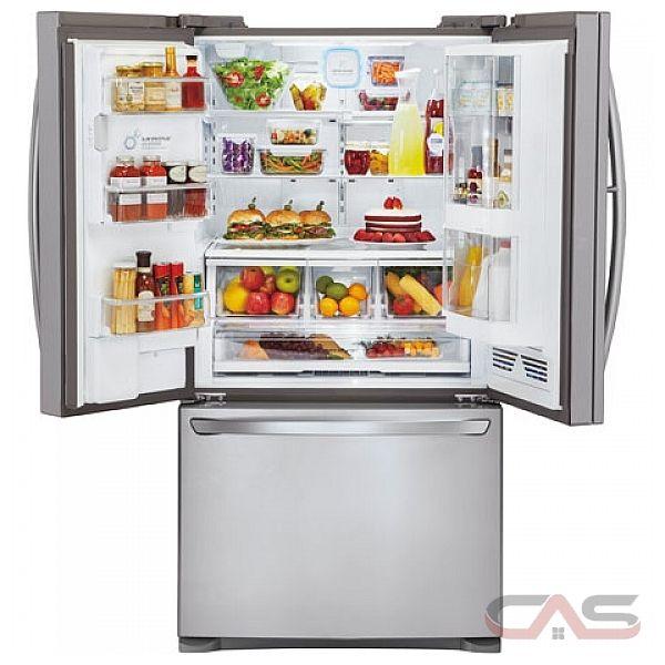 LG LFX25992ST Counter-Depth Refrigerator with Door in Door, 25 Cu.Ft ...