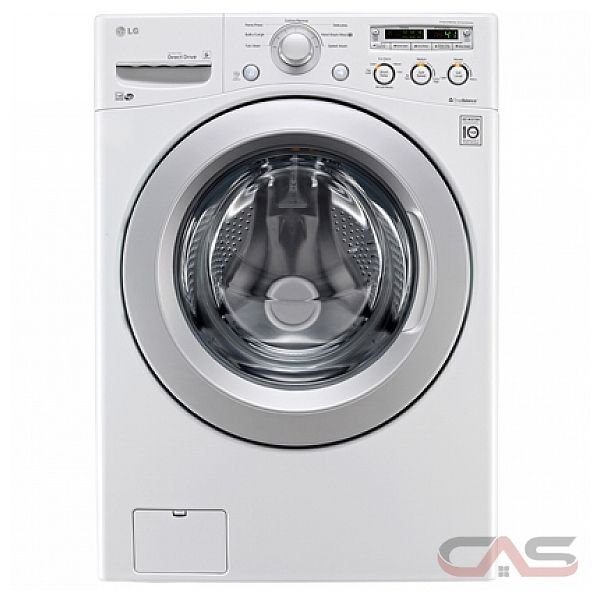 LG WM3050CW Front Load Washer,4.6 cu.ft., 7 Cycles, 5 Speeds, 1,200 RPM's, ColdWash and 6Motion technologies