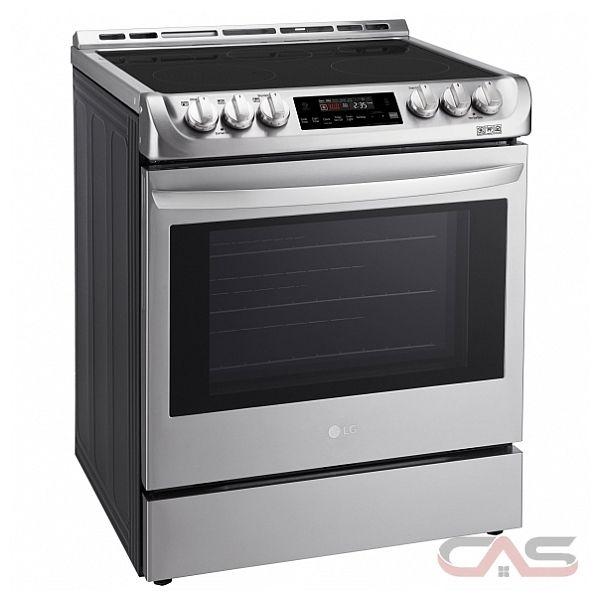 Lg lse4611st range electric range 30 inch self clean convection 5 burners glass burners - Inch electric range reviews ...