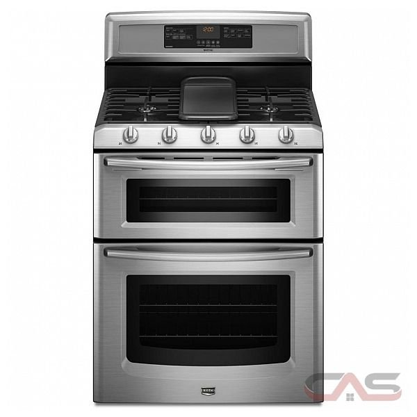 Maytag MGT8885XS Freestanding Double-Oven Gas Range, 30in, 6.0 cu.ft, with 5 Sealed Burners, EvenAir True Convection Lower Oven, Self-Cleaning, Griddle Burner w/ Griddle Included
