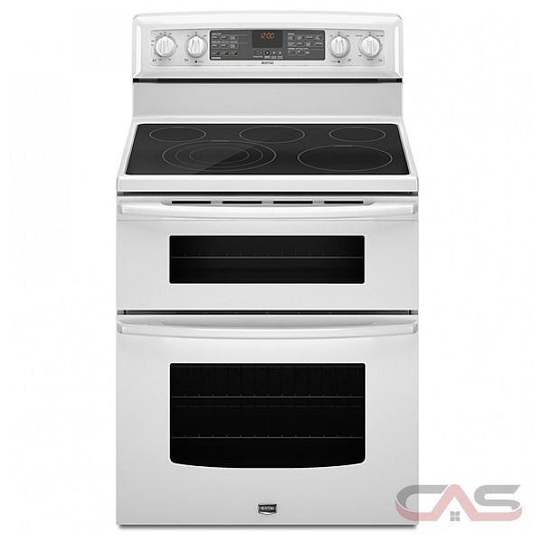 maytag ymet8885xw freestanding double oven electric range 30in 6 7