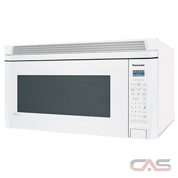 Panasonic NNS255W Over the Range Microwave, 1100 Watts, 2 cubic ft, Halogen, 300 CFM, White
