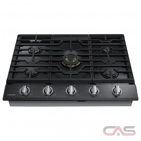 Samsung NA30K7750TG Cooktop, Gas Cooktop, 30 inch, 5 Burners, Black Stainless Steel colour