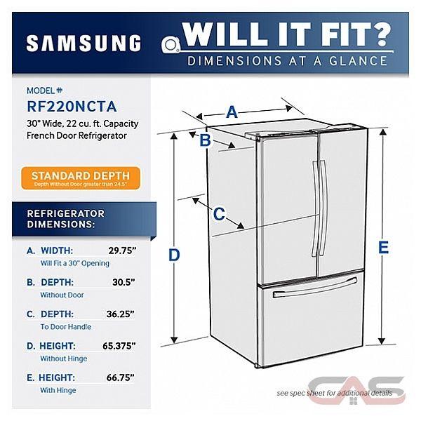 Samsung Rf220nctaww Refrigerator Canada Best Price
