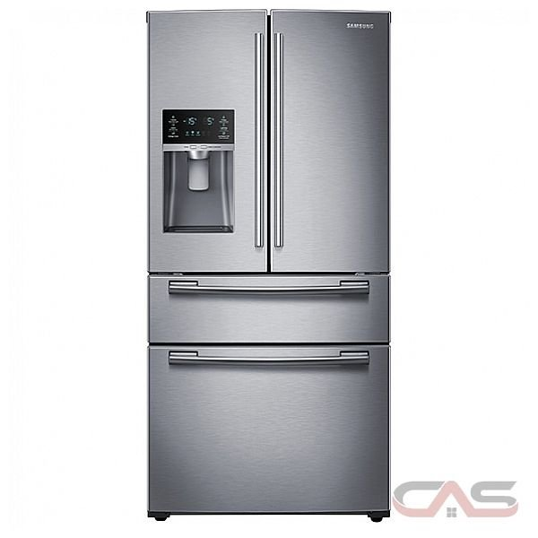 Samsung RF25HMEDBSR French Door, Bottom Mount Refrigerator, 33in Wide, 24.7 cu.ft, Mid Convertible Drawer, Smart Divider, Twin Cooling Plus, New Ice & Water Dispenser, Ice Master, 2014 Energy Star