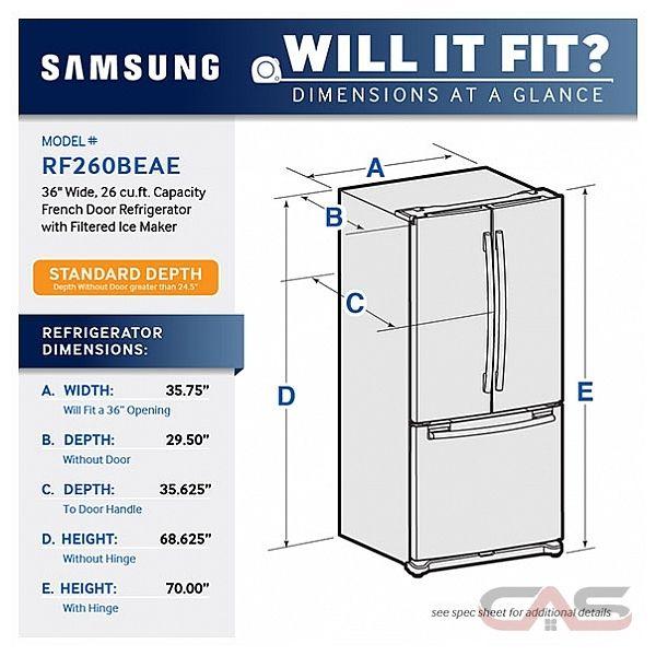 Rf260beaeww Samsung Refrigerator Canada Best Price