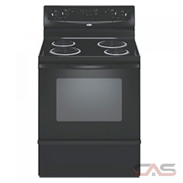 Whirlpool YRF115LXVB Freestanding Electric Range, 30in, 4.8 cu.ft, with High-Speed Coil Elements, convenient appliance outlet, 2 Oven Racks and Extra Large Oven Window