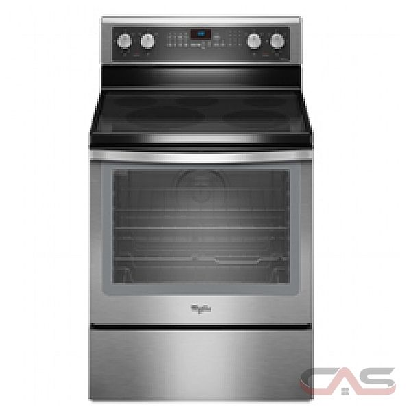 Whirlpool YWFE710H0AS Freestanding Electric Convection Range, 30 in, 6.2 Cu.Ft, with Keep Warm Burner, Rapid Preheat, Extra Large Oven Window, Hidden Bake Element and Delay Bake Setting
